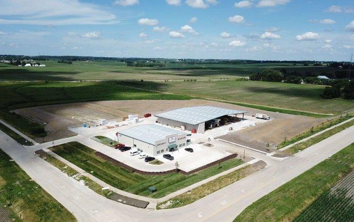 Alexander lumber Aerial view